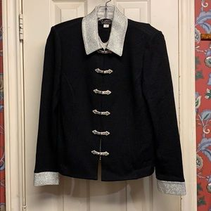 St John CLASSIC FORMAL blk 2 pc jacket/tank sz 4